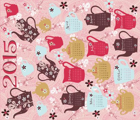2015 Tea Towel Calendar fabric by deeniespoonflower on Spoonflower - custom fabric
