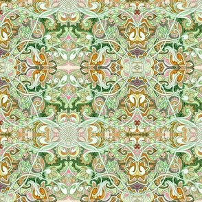 When I Was a Child I Fell in Love With Paisley (green mist abstract)