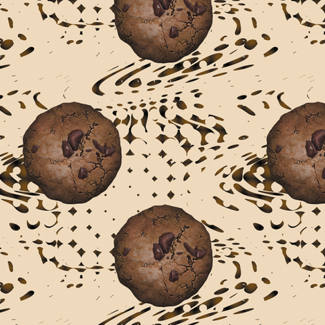 Chocolate Chip Cookies fabric by animotaxis on Spoonflower - custom fabric