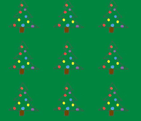 Christmas Tree Ornament fabric by monaghan on Spoonflower - custom fabric