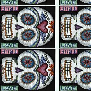 true love sugar skull