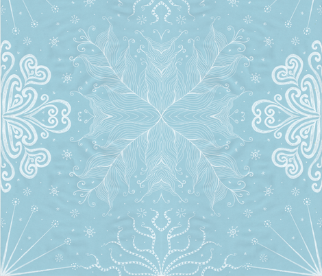 Kayi, Sky, Large fabric by katiame on Spoonflower - custom fabric