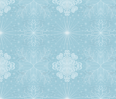 Kayi, Sky, Medium fabric by katiame on Spoonflower - custom fabric