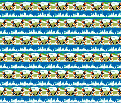Duck World Reflections fabric by robin_rice on Spoonflower - custom fabric