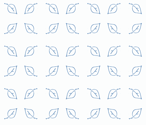 leaf blue fabric by kerrysteele on Spoonflower - custom fabric