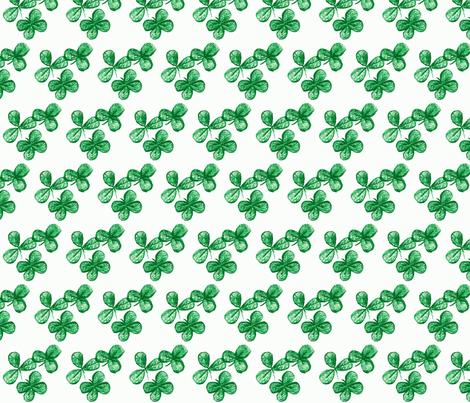 Lucky me-green fabric by kerrysteele on Spoonflower - custom fabric