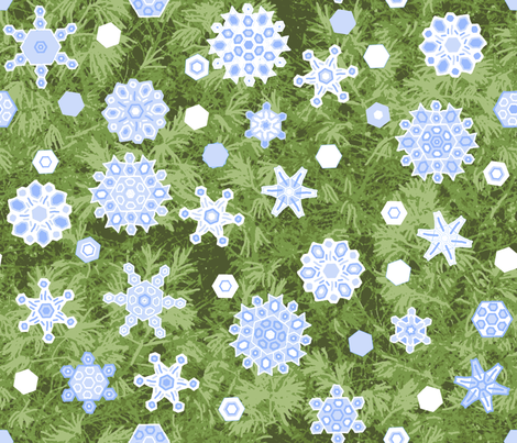 snow_shower_1638503_Pine_2012oilify_BC_VanGoh fabric by khowardquilts on Spoonflower - custom fabric