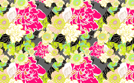 Jungle Passion bright green and large scale for Lieke fabric by joanmclemore on Spoonflower - custom fabric