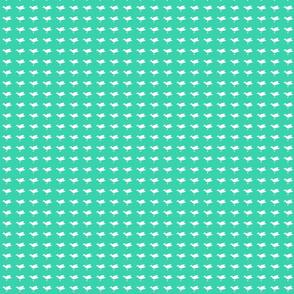 Birdsong - White on Aqua (Basic)