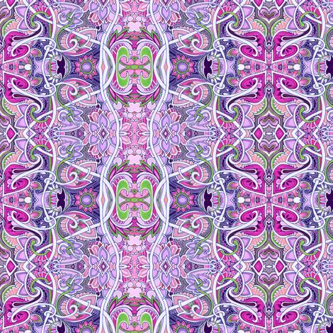 Granny, What's Your Sine? (ultra feminine ornate vertical stripe) fabric by edsel2084 on Spoonflower - custom fabric