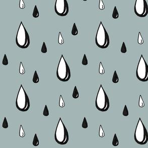 hand drawn raindrops