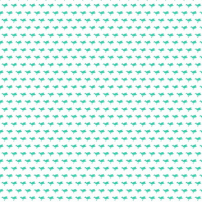 Birdsong - Aqua on White (Half-Brick)