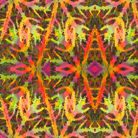 leaves large fabric by y-knot_designs on Spoonflower - custom fabric