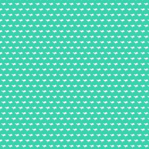 Birdsong - White on Aqua (Half-Brick)