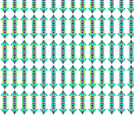 Groovy Down 3 fabric by lisulle on Spoonflower - custom fabric