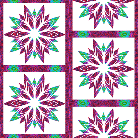Modern Snowflakes 14 fabric by dovetail_designs on Spoonflower - custom fabric