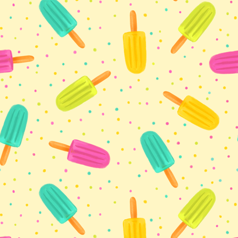 Popsicles - Pastel fabric by rikkib on Spoonflower - custom fabric