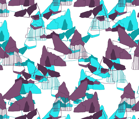Ice mountain fabric by susanna_nousiainen on Spoonflower - custom fabric