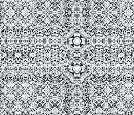 Lace Navy and White fabric by wren_leyland on Spoonflower - custom fabric