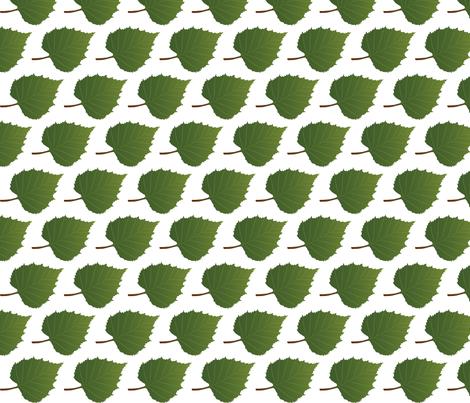 Leaf-Birch fabric by terriaw on Spoonflower - custom fabric