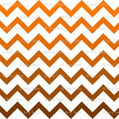 Ombre Orange Chevron Pattern