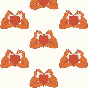 Foxy Love brown on Cream