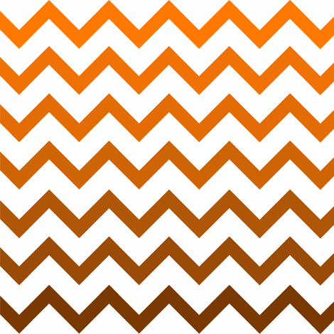 Ombre Orange Chevron Pattern Small Fabric fabric by amyteets on Spoonflower - custom fabric