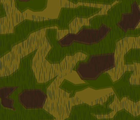 Sumpfmuster 43 Tan & Water Camo Alternate 1 Darker Colors fabric by ricraynor on Spoonflower - custom fabric