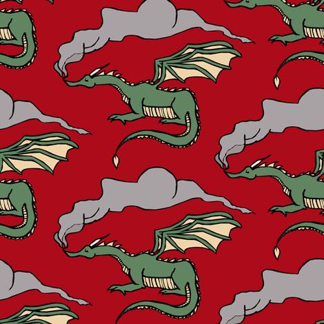Dragons' Breath fabric by pond_ripple on Spoonflower - custom fabric