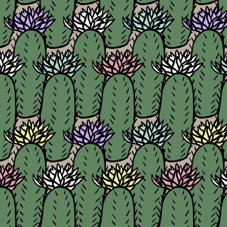 Cactus Multi fabric by pond_ripple on Spoonflower - custom fabric