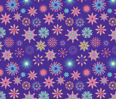 Snowflakes-ch fabric by maruqui on Spoonflower - custom fabric