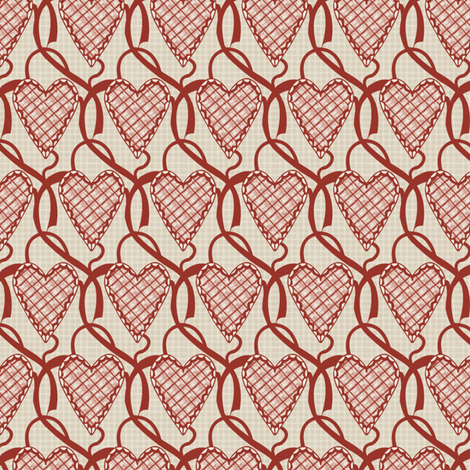 hearts fabric by kirpa on Spoonflower - custom fabric