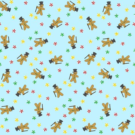 Gingerbread Gentlemen fabric by tanith on Spoonflower - custom fabric