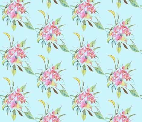 bouquet-sweetpea fabric by kerrysteele on Spoonflower - custom fabric