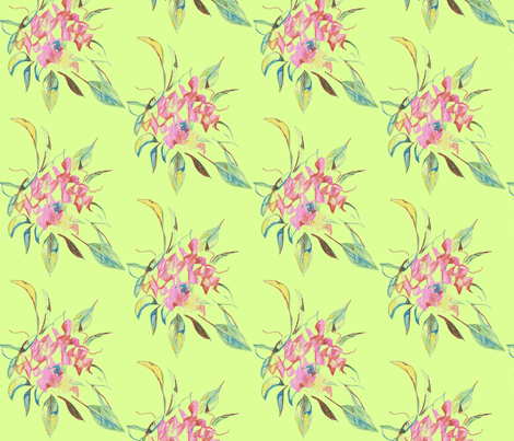 bouquet- celadon fabric by kerrysteele on Spoonflower - custom fabric