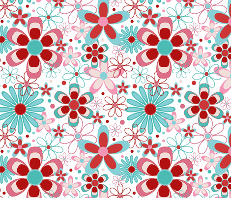 Springtime Floral fabric by designedtoat on Spoonflower - custom fabric