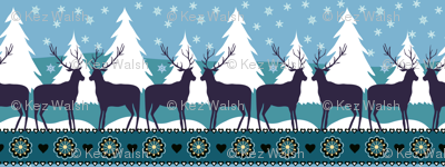 Reindeers in the snow