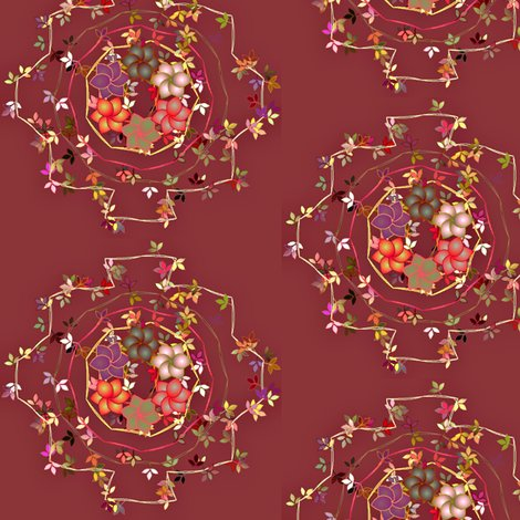 Rrdaisy_chain_floral_on_dark_rose_shop_preview