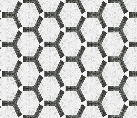 Bold Hexagons Charcoal Black and White fabric by wren_leyland on Spoonflower - custom fabric