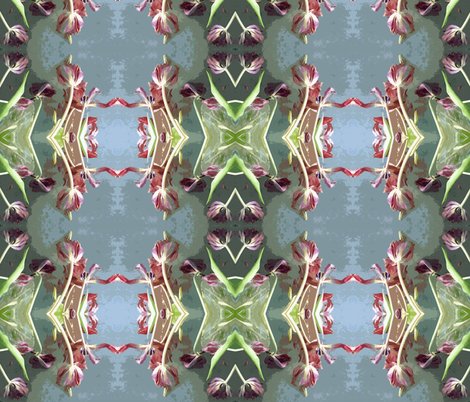 Dying Tulips on Zinc-topped Coffee Table fabric by susaninparis on Spoonflower - custom fabric