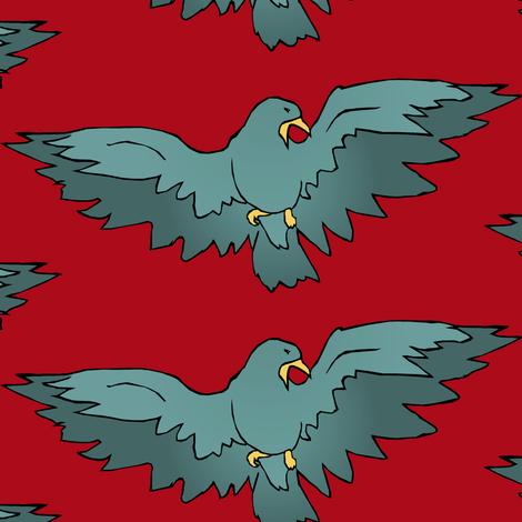 Birdsong fabric by pond_ripple on Spoonflower - custom fabric