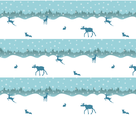 A Beautiful Day for a Snowball-Fight fabric by risarocksit on Spoonflower - custom fabric