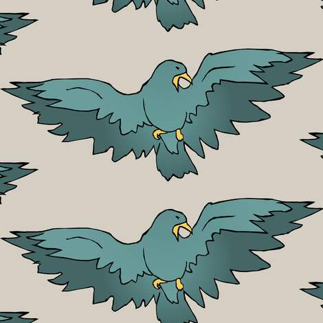 Birdsong II. fabric by pond_ripple on Spoonflower - custom fabric