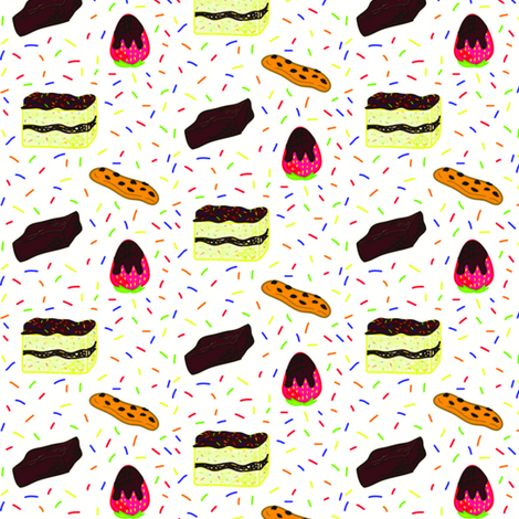 Desserts fabric by babudzynski on Spoonflower - custom fabric