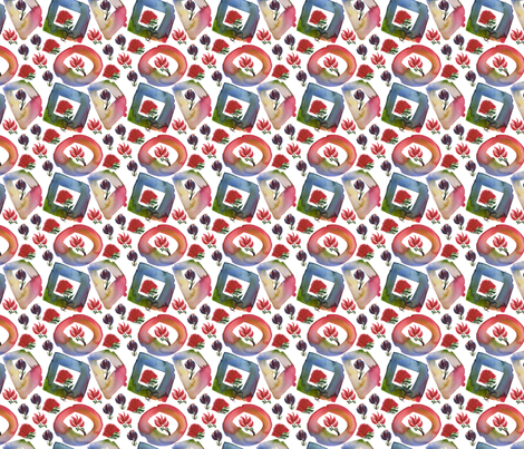 Window Flowers block fabric by whimsikate on Spoonflower - custom fabric