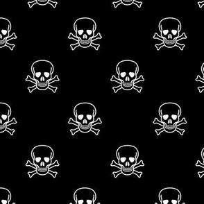 Skull and Cross Bones - Black