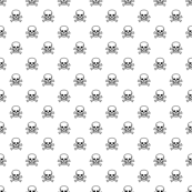 Skull and Cross Bones - White