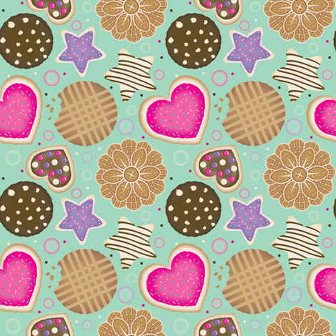Cookie Time fabric by janekenstein on Spoonflower - custom fabric