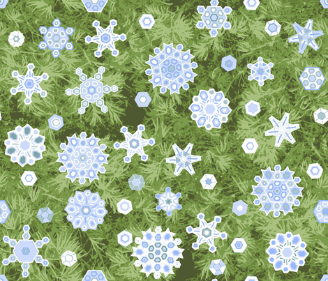 Snow_Shower_in_the_Pines fabric by khowardquilts on Spoonflower - custom fabric