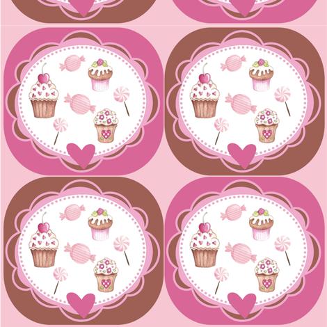CUPCAKES&CANDY fabric by dlginc on Spoonflower - custom fabric